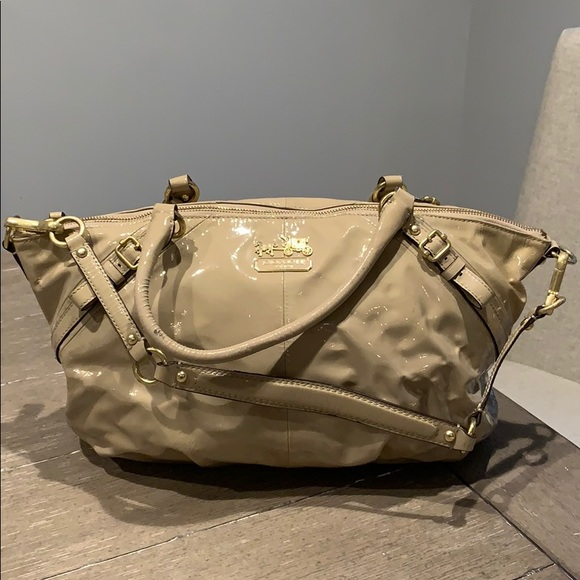 Coach Handbags - Coach Madison Sophia, Putty Patent. Style #15915